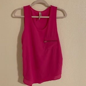 Paper Crane Anthropologie Pink Top with Zippers